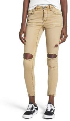 One Teaspoon Freebirds Ripped Low Waist Skinny Jeans