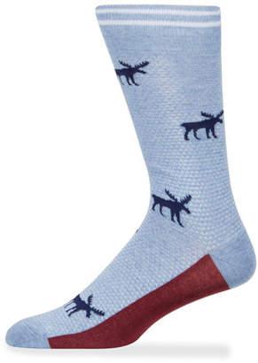 Neiman Marcus Men's Moose Cotton Socks