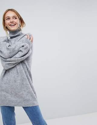 Monki High Neck Knitted Jumper