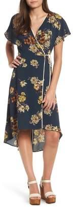 Leith Floral Wrap Dress