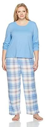 Jockey Women's Plus Size Microfleece Pajama Set