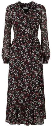 MICHAEL Michael Kors Floral Wrap Midi Dress