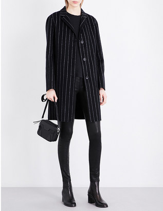 Rag & Bone Sidney pinstriped wool and cashmere-blend coat