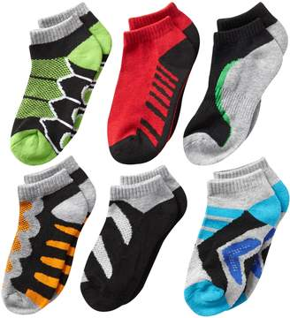 Jefferies Socks Little Boys' Tech Sport Low Cut Socks (Pack of 6)