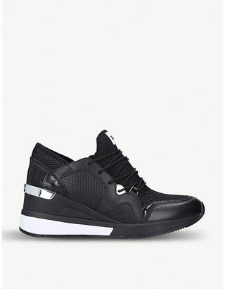 MICHAEL Michael Kors Scout leather and mesh trainers