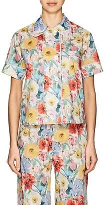 Araks Women's Shelby Floral Cotton Poplin Pajama Top