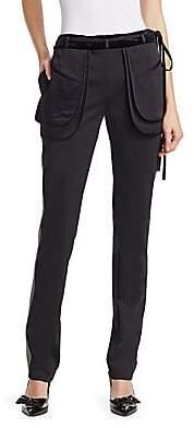 Valentino Women's Flap Pocket Side Stripe Pants