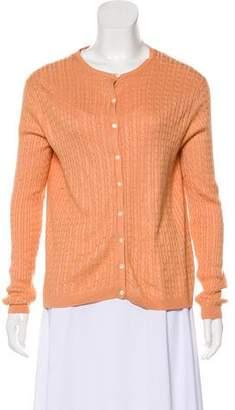 Brooks Brothers Silk Knit Cardigan