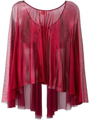 Maria Lucia Hohan sheer round neck blouse
