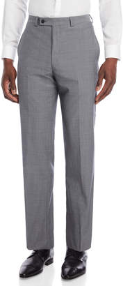 Calvin Klein Light Grey Wool Oxford Pants