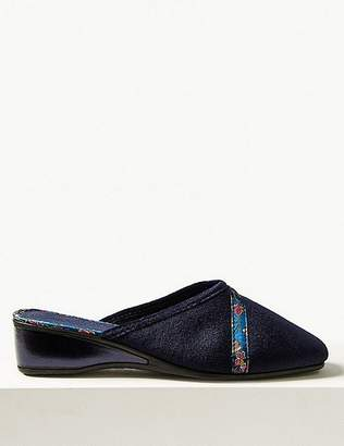 Marks and Spencer Floral Braid Wedge Heel Mule Slippers