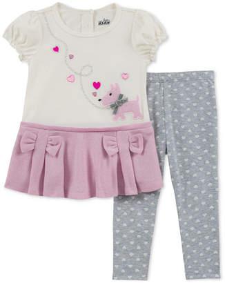 Kids Headquarters Baby Girls 2-Pc. Puppy & Bow Tunic & Leggings Set