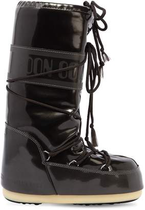 Moon Boot Faux Patent Leather Snow Boots