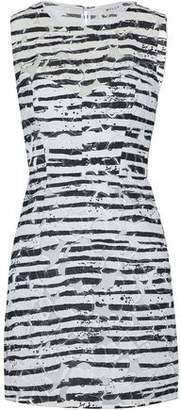 Milly Nina Printed Fil Coupé Cotton-Blend Mini Dress
