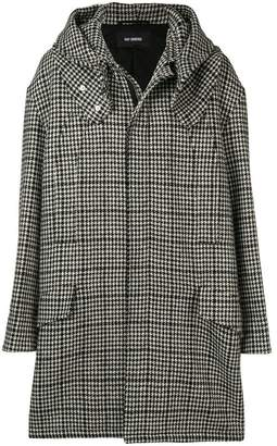 Raf Simons houndstooth padded parka