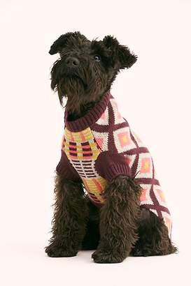 Ware Of The Dog Retro Jacquard Puppy Sweater
