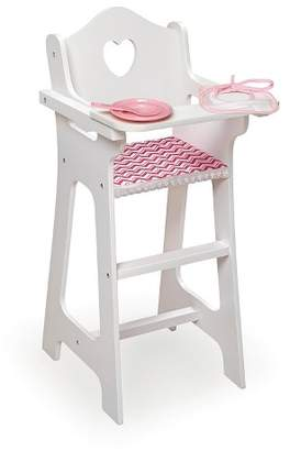 Badger Basket Doll High Chair with Plate Bib Spoon - Chevron Print $28.49 thestylecure.com