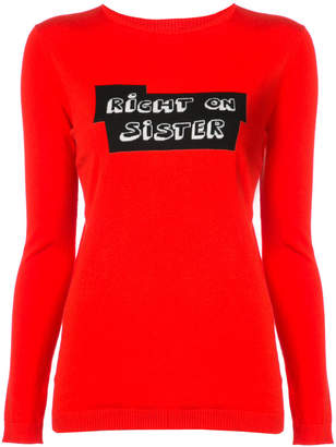 Bella Freud knitted slogan top