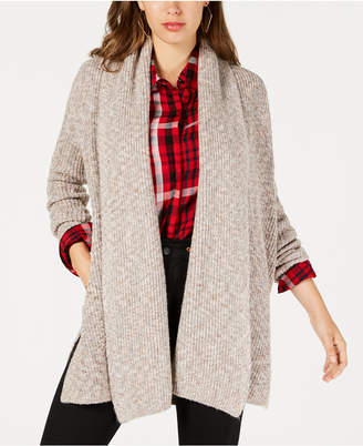 GUESS Draped Open-Front Cardigan Sweater
