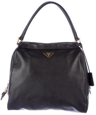 pradaPrada Saffiano Double Zip Bowler Bag