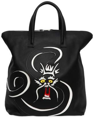 Dragon Optical Vegetable Tanned Leather Tote Bag