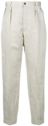 Maison Margiela high rise cropped trousers