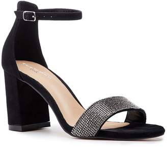 2388e74e63 Barely There Paradox London Vanna Black Low Block Heel Sandals