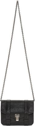 Proenza Schouler Black PS1 Chain Wallet Bag $790 thestylecure.com