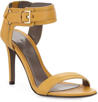 Jason Wu Leather Ankle-Cuff Sandals, Gold