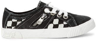 Blowfish Malibu Kids (Kids Girls) Black Fruit Check Slip-On Sneakers
