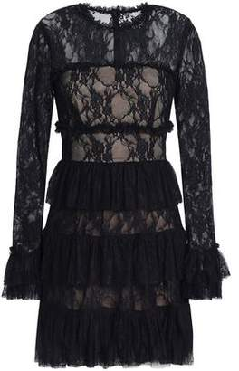 Bailey 44 Ruffled Lace Mini Dress