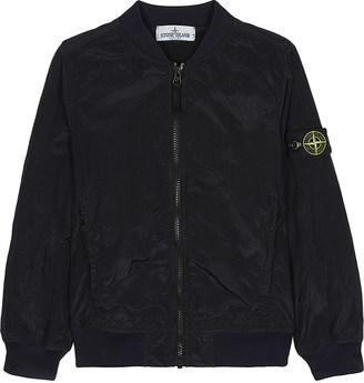 Stone Island Logo nylon bomber jacket 6-14 years $290 thestylecure.com