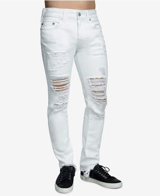 a0d0ca1351f8 True Religion Men Rocco Ripped Skinny Fit Stretch Jeans