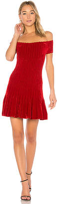 Ronny Kobo Karin Chenille Raised Short Row Dress