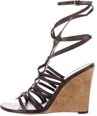 Saint LaurentYves Saint Laurent Goya 105 Leather Wedges