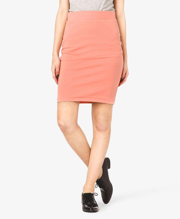 Forever 21 Knee Length Bodycon Skirt