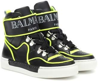 Balmain Kids Leather sneakers