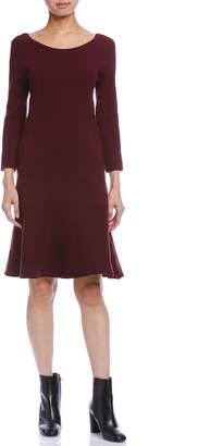 Comptoir des Cotonniers チェック 七分袖ドレス パープル 40