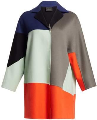 Akris Cashmere Patchwork Coat