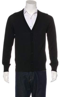 Dolce & Gabbana Wool Rib Knit Trim Cardigan