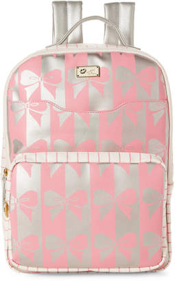 Betsey Johnson Pink & Silver Tyler Bow Backpack
