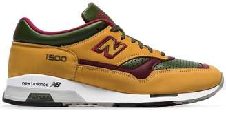 New Balance yellow green and purple M1500 trainers