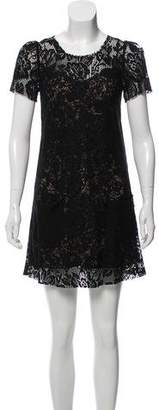 Dolce & Gabbana Lace Short Sleeve Mini Dress w/ Tags