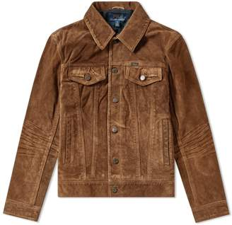 Polo Ralph Lauren Suede Trucker Jacket