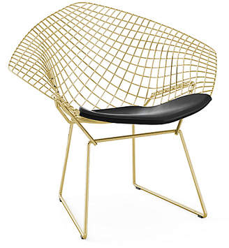 Design Within Reach Knoll Bertoia Diamond Lounge Chair, Black at DWR