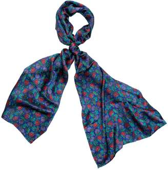 Carousel Jewels - Berry Blue Silk Scarf