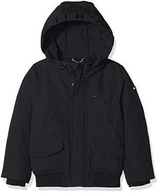 Tommy Hilfiger Boy's Arctic Hooded Bomber Jacket (Tommy Black 014)