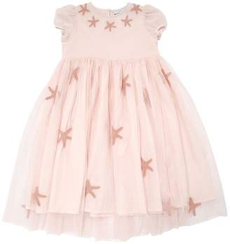 Stella McCartney Starfish Patches Stretch Tulle Dress