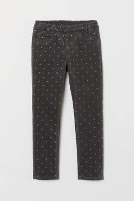 H&M Corduroy Treggings - Gray