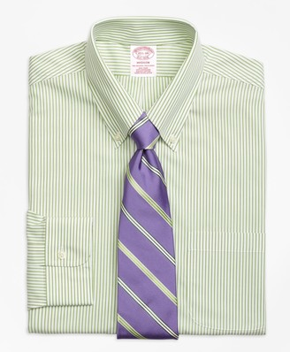 Brooks Brothers Madison Classic-Fit Dress Shirt, Non-Iron Wide Stripe